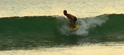 Laurent rides NMD bodyboards