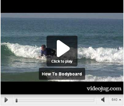 How to ride a boogie board