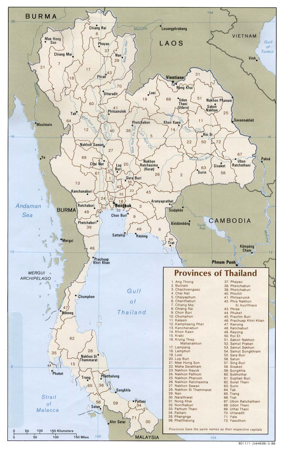 map of thailand provinces thailand map and travel guide