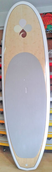 Bamboo Top and Bottom Stand Up Paddleboard