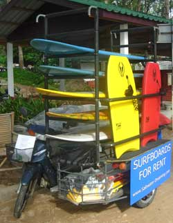 rent a surfboard in Phuket