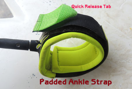 Padded ankle strap