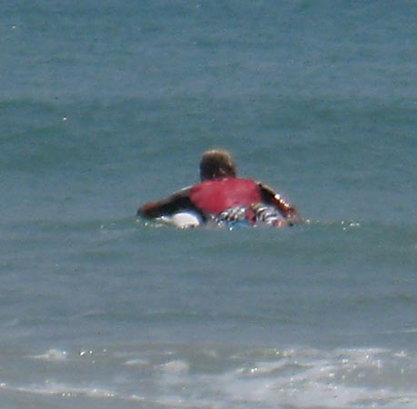 paddling a surfboard smoothly