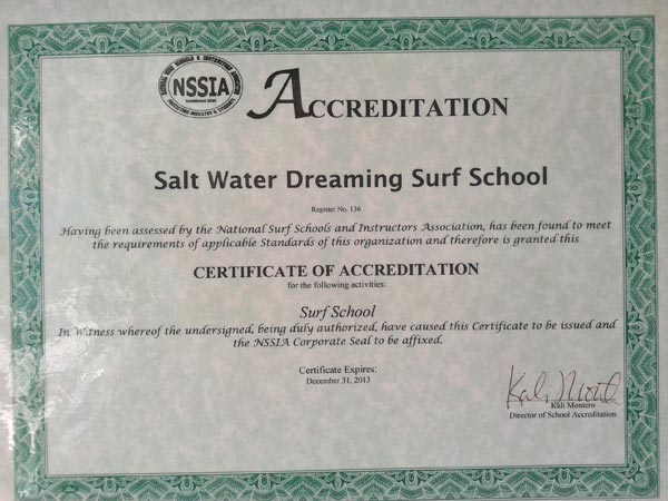 Surf School Accreditation