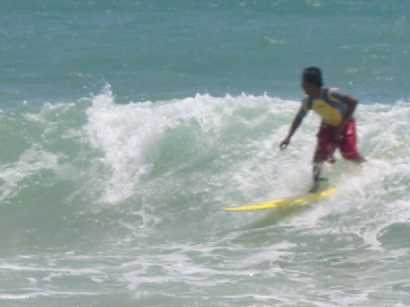 surfing at Thai Muang