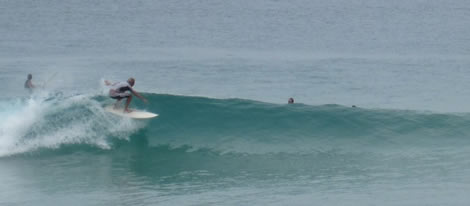 Surfing Surin beach