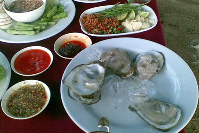 Oysters Thai style