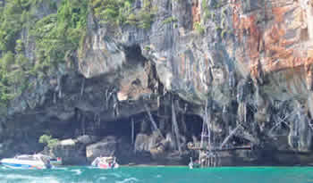 viking cave-click for photos of phi phi