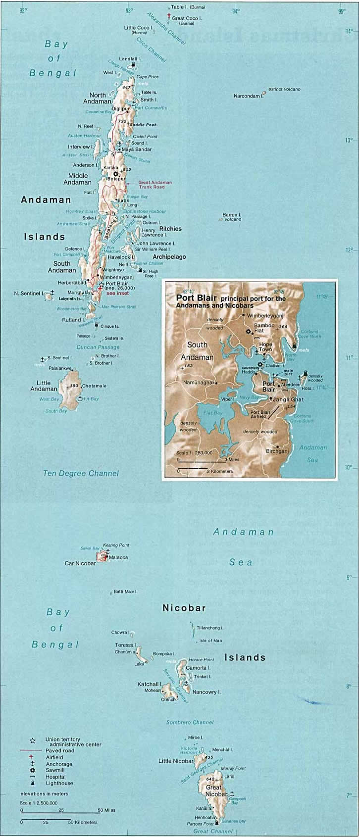 Andaman Islands-Nicobar Islands Map