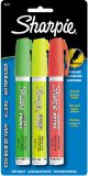 Sharpie Water-Based Medium Point Paint Marker, 3 Fluorescent Colored Markers