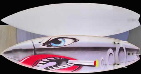 custom surfboard spray paint jobs