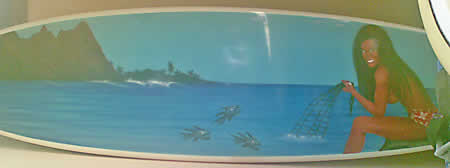 surfboard spray job