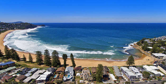 Aerial View of Avoca Beach