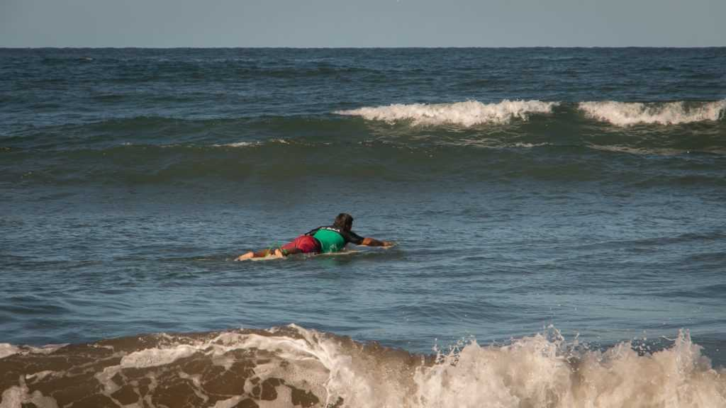 Paddling a Surfboard