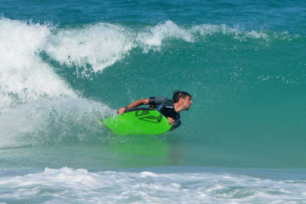 Bodyboard Bottom Hand Turn