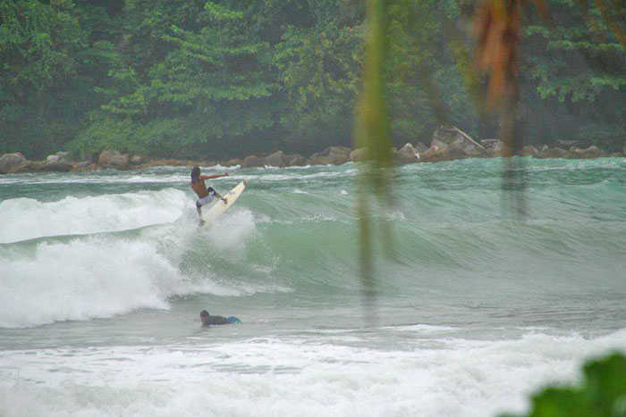 Surfing Kamala Beach