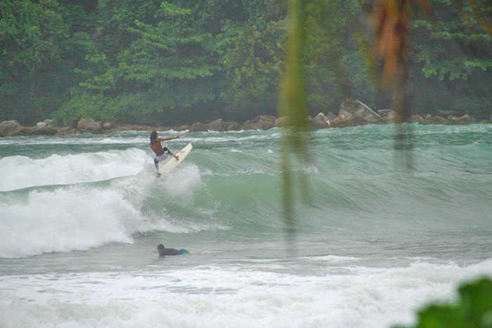 Surfing Kamala Beach