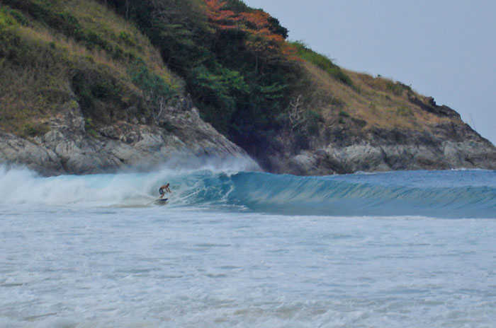 Surfing Nai Harn Beach