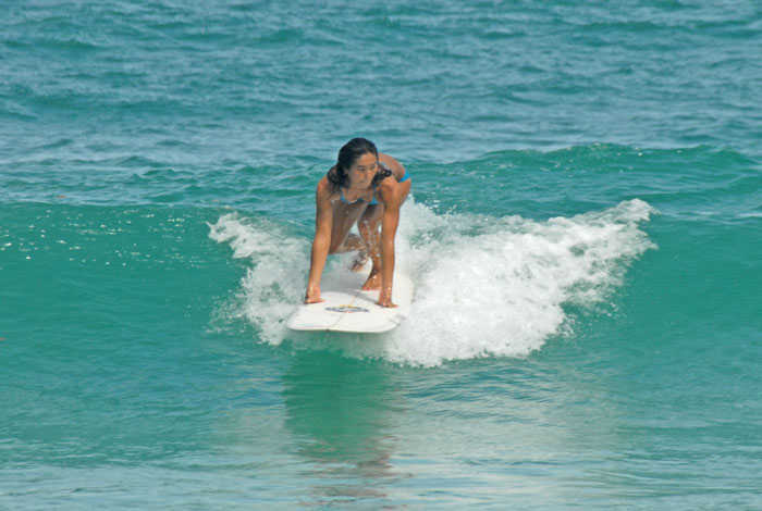 Popping Up on a Surfboard