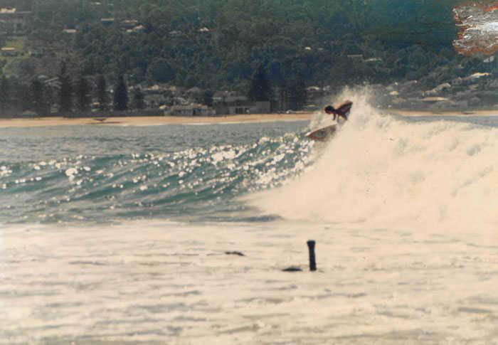 Surfing Sandon Point Australia with no crowds