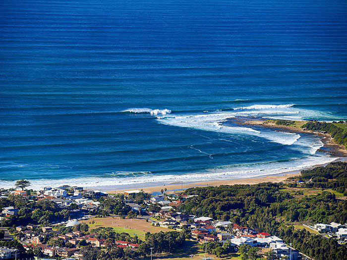 Aerial View of Sandon Point