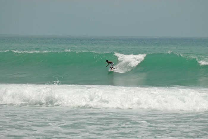 Surfing Kalim Beach