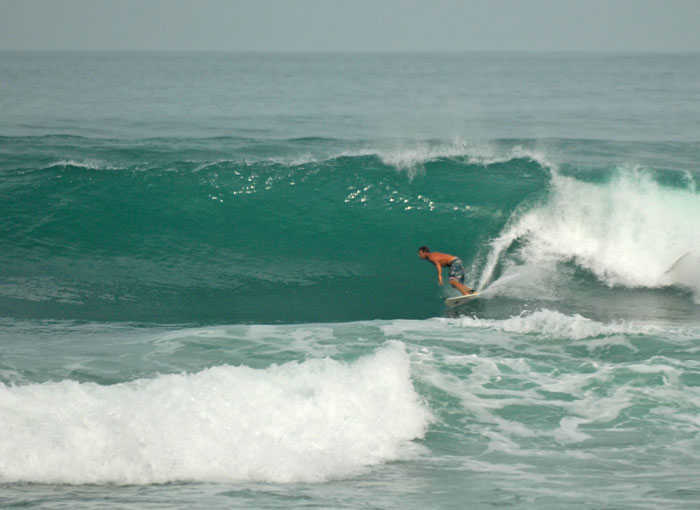 Surfing Kalim Reef Break