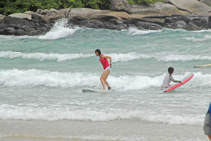 Beginners Surfing at Kata Beach