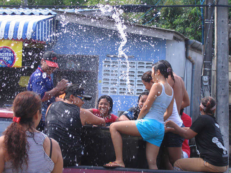 Getting wet at the Songkran festival in Phuket