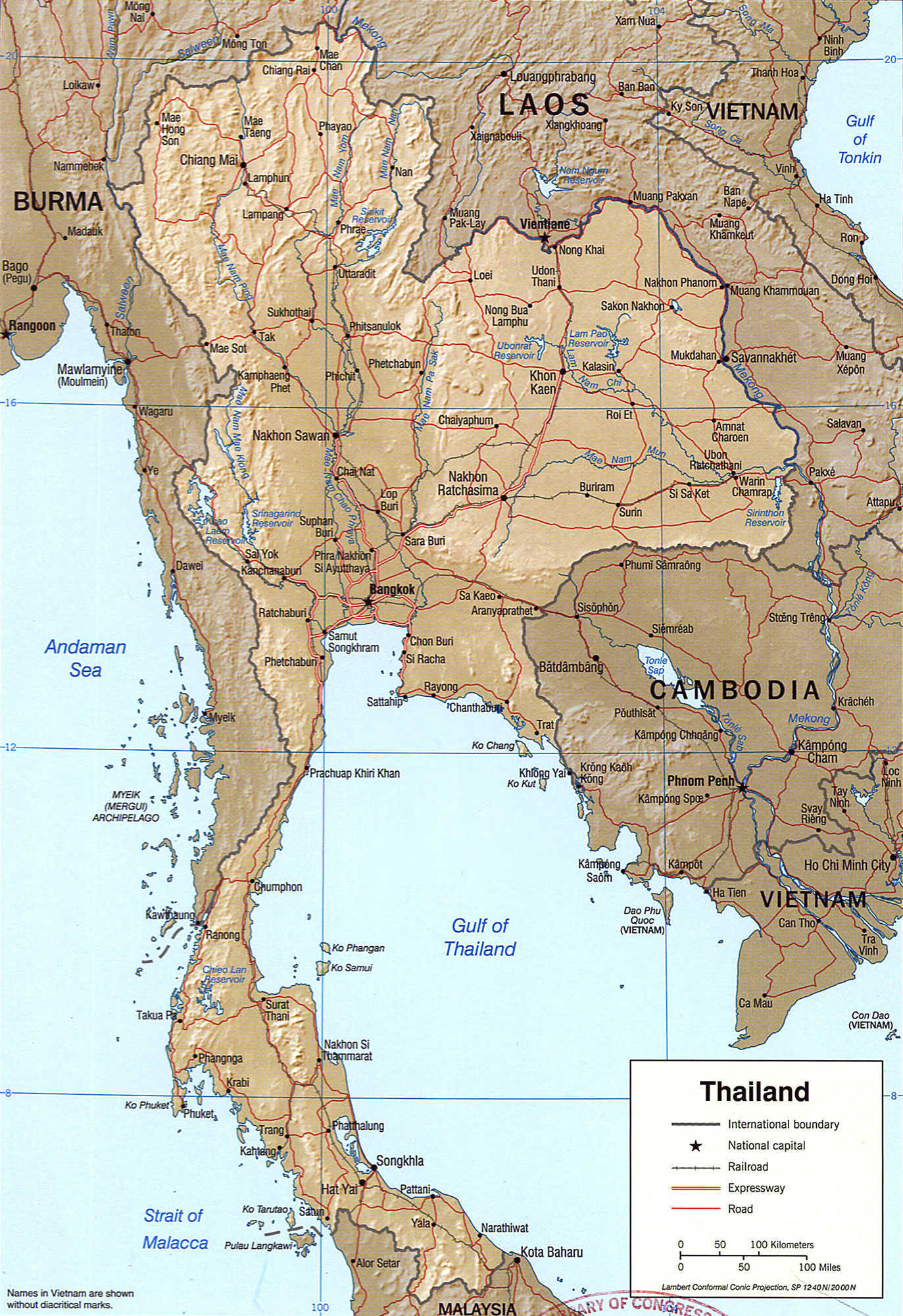 Map of Thailand provinces, Thailand map and travel guide
