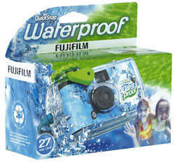 Fuji Quick Snap Waterproof camera 27 Exposure One Time Use