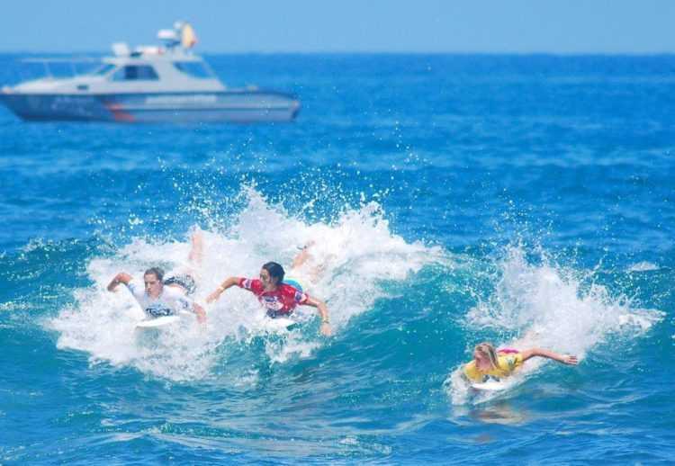 Paddling a Surfboard