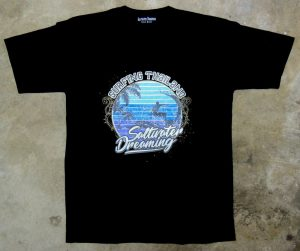 Saltwater Dreaming Tee Shirt Surfing Thailand Black
