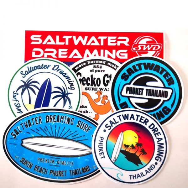 Saltwater Dreaming Surf Stickers