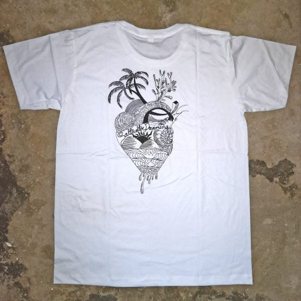 Saltwater Dreaming T-Shirt Heart of the Sea White