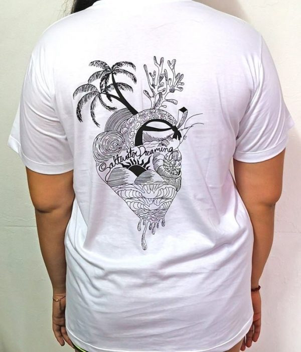 Saltwater Dreaming Tee Shirt Heart of the Sea White