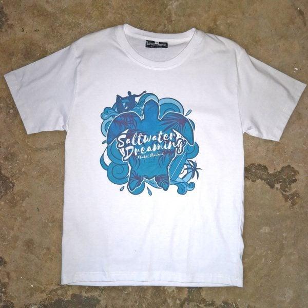 Saltwater Dreaming T-Shirt Sealife White