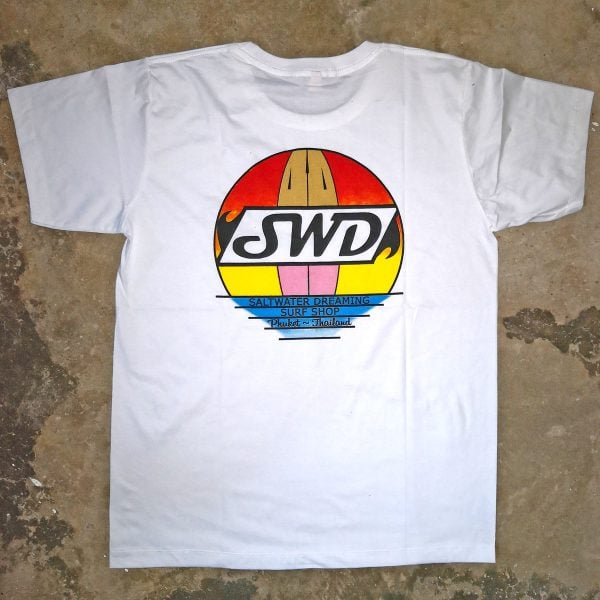 Saltwater Dreaming T-Shirt Surfboard Sunset
