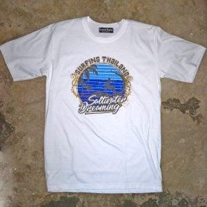 Saltwater Dreaming T-Shirt Surfing Thailand White