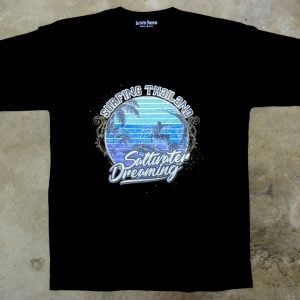 Saltwater Dreaming T-Shirt Surfing Thailand Black