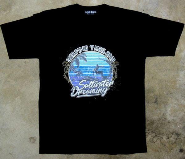 Saltwater Dreaming T-Shirt Surfing Thailand Black
