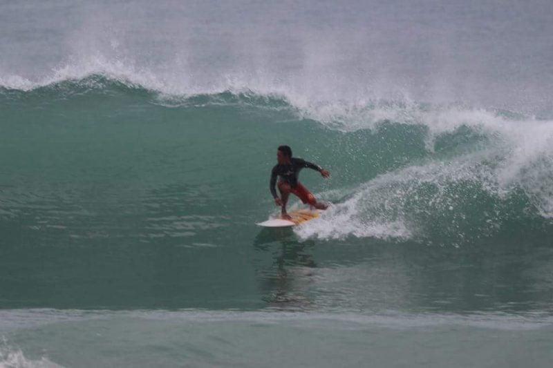 Surfing Nai Thon Beach