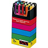 Uni-posca PC-3M Paint Marker Pen - Fine Point - Set of 15