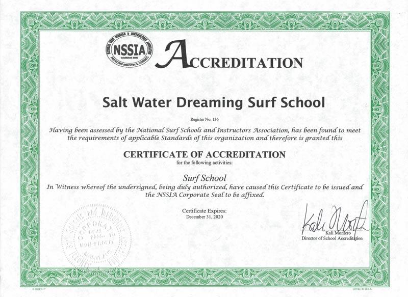 Surf School Accreditation